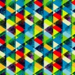 Watercolor triangles seamless pattern. Modern hipster seamless p — Stock Photo #29832241