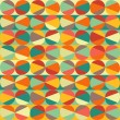 Vector geometric pattern of circles and triangles. Colored circl — Stock Vector