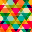 Pattern of geometric shapes. Triangles.Texture with flow of spec — Image vectorielle