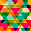 Pattern of geometric shapes. Triangles.Texture with flow of spec — Stock vektor