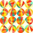 Vector geometric pattern of circles and triangles. Colored circl — Stockvectorbeeld