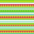 Seamless vector tribal texture. Tribal vector pattern. Colorful — Stock Vector