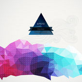 Vector triangle pattern background, triangles background, vector — Stock Vector