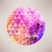 Vector watercolor planet background,round illustration,illust ra — Stock Vector