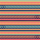 Seamless vector tribal texture. Tribal vector pattern. Colorful — Vetor de Stock