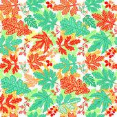 бесшовные листьев pattern.leaf фон. осенние бесшовный фон. — Cтоковый вектор