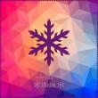 Vector snowflake. Abstract snowflake on geometric pattern. Snowf — Stock Vector
