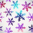 Vector snowflakes pattern. Abstract snowflake of geometric shape — Stock Vector #33771989