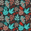 Seamless leaf pattern.Leaf background. Autumn seamless pattern.  — ベクター素材ストック