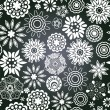 Vector chalkboard seamless floral pattern. Copy that square to t — Stockvectorbeeld