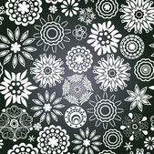 Vector chalkboard seamless floral pattern. Copy that square to t — Vecteur