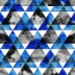 Ink triangles seamless pattern. Modern hipster seamless pattern. — Stock Photo #39897783