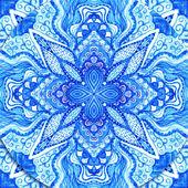 Aquarell gzhel. deckchen rund lochmuster, kreis-background wi — Stockfoto