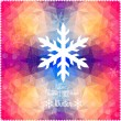 Vector snowflake. Abstract snowflake on geometric pattern. Snowf — Stock vektor
