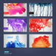 Vector abstract hand drawn set of six watercolor background,vect — Stockvektor  #39894731