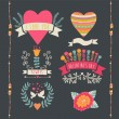 Valentine label set. Valentine Day emblems. — Cтоковый вектор