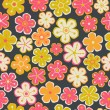 Floral seamless pattern with flowers. Vector blooming doodle flo — Wektor stockowy