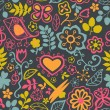 Floral seamless pattern with flowers. Vector blooming doodle flo — ストックベクター #39895503