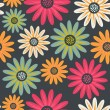 Floral seamless pattern with flowers. Vector blooming doodle flo — 图库矢量图片