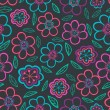 Floral seamless pattern with flowers. Vector blooming doodle flo — Vector de stock #39895513