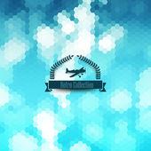 ヒップスターのベクトルの背景。レトロなバッジのデザイン。ベクトル ハイテク世界にひきずり込ま ba — ストックベクタ