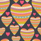 Seamless pattern with hearts for Valentine's Day design. Decorat — Stock Vector