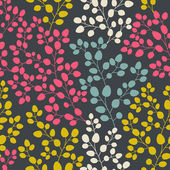 Vector seamless abstract hand-drawn pattern, leaf backdrop, Endl — Vetorial Stock
