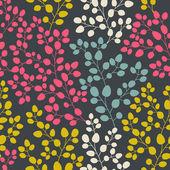 Vector de patrones dibujados a mano abstracta sin fisuras, telón de fondo de la hoja, endl — Vector de stock