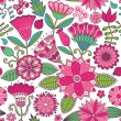 Abstract floral background, summer theme seamless pattern, wall — Stock Photo