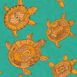 Seamless pattern with turtles. Seamless pattern can be used for — Stock Photo