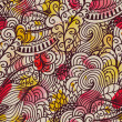 Seamless wave hand-drawn pattern. Watercolor seamless pattern.Ca — Stock Photo