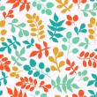 Stock Photo: Summer seamless leaf pattern.