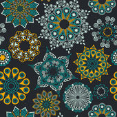 Floral seamless pattern with flowers. Copy square to the side an — Stock Photo