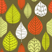 Seamless pattern with leaf, abstract leaf texture, endless backg — Stock Photo