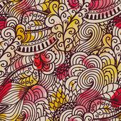 Seamless wave hand-drawn pattern. Watercolor seamless pattern.Ca — Stock Photo