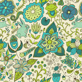 Romantische Doodle floralen Textur. passt auf die Seite zu kopieren und — Stockfoto