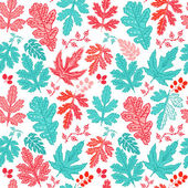 Seamless pattern on leaves theme, seamless pattern with leaf — Zdjęcie stockowe