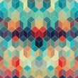 Seamless geometric pattern with geometric shapes, rhombus, color — Stock Photo