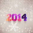 Numbers, 2014, colorful numbers. Elegant Christmas background wi — Stock Photo