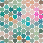 Background of repeating geometric stars. Spectrum geometric back — Stock Photo