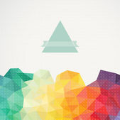 Triangle background, illustration. Abstract hand drawn banner, i — Stock Photo