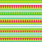 Бесшовный племен. племенных шаблон. красочные этнические полосатый — Стоковое фото