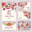 Printable Wedding Invitation Template: invitation, envelope, th — Stock Vector