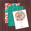 Floral banner for life events, vector. Greeting floral card. Pla — ストックベクタ