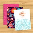 Floral banner for life events, vector. Greeting floral card. Pla — Cтоковый вектор