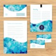 Vector corporate identity, wave pattern. Abstract backdrop.Geome — Stockvector