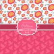Stock Vector: Vector seamless patterns. Dove. Shabby chic. Floral patterns (s