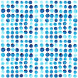 Vector watercolor circles seamless pattern (tiled). Retro hand d — Stockvector
