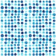 Vector watercolor circles seamless pattern (tiled). Retro hand d — Stock Vector