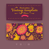 Floral banner for life events, vector. Greeting floral card. Pla — Stockvector